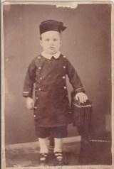 Carl E. Rice, grandfather, 1881 age 4, taken in Clifton, Kansas
