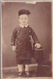 Carl E. Rice, grandfather, 1881 age 4, taken in Clifton, Kansas