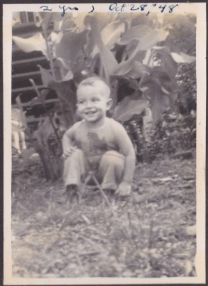 Uncle Freddy, 2 years old, 1948