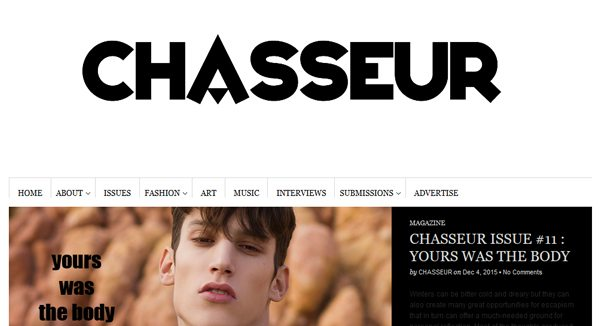 Chasseur Magazine - Magazines that accept submissions