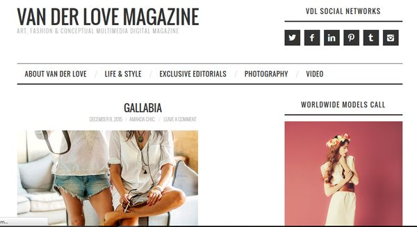 Van Der Love - Magazines that accept submissions