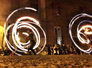 Fire Spinners at First Friday, Richmond