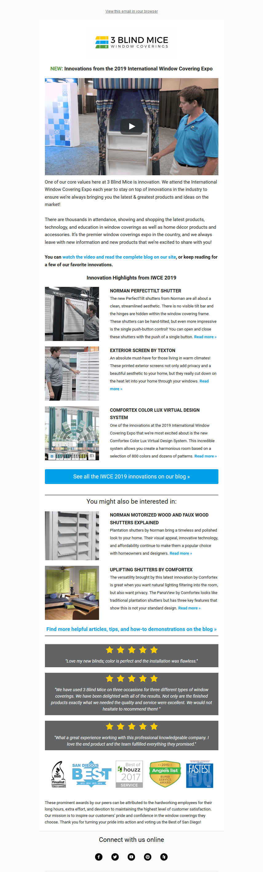 3 Blind Mice Responsive Email Design