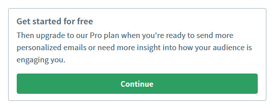 AWeber's new free plan is perfect for getting started.