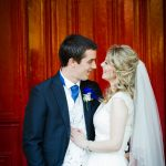 bride and groom : briars hall hotel