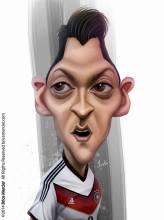Caricature de Mesut Özil