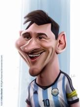 Caricature de Lionel Messi