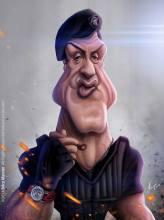 Caricature de Sylvester Stallone