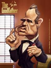 Caricature de Marlon Brando