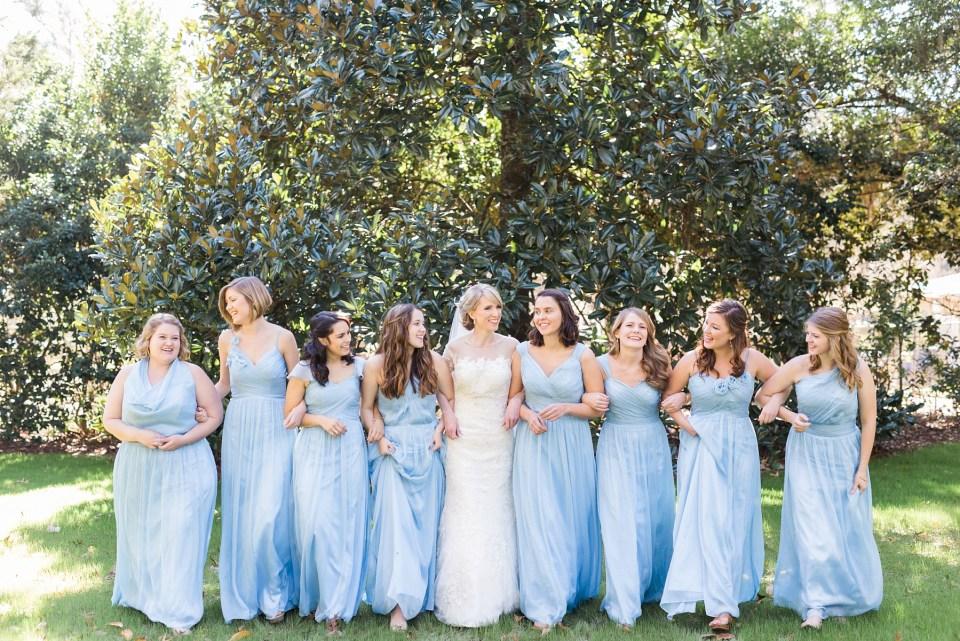Dusty Blue Bridesmaids | Wedding Hair | Bri Cibene Photography | www.bricibene.com