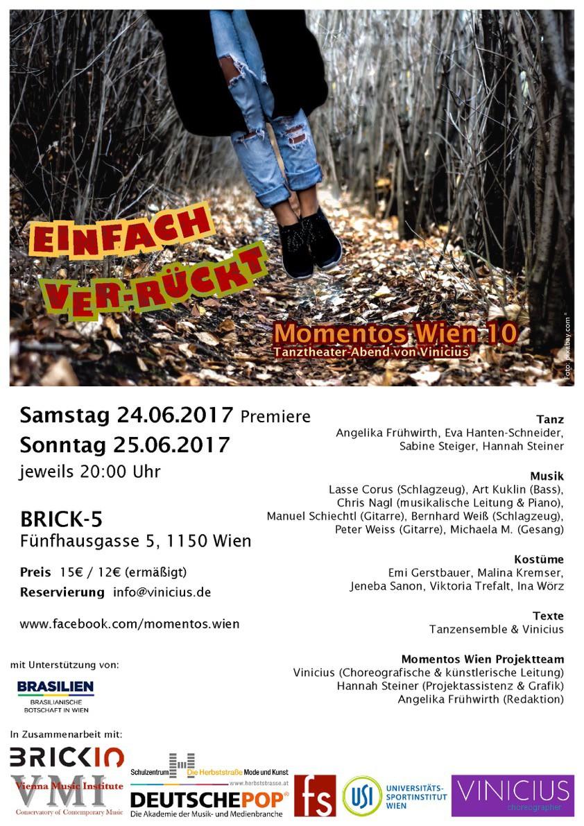 """Momentos Wien: Performance Tanztheater Projekt """"einfach ver-rückt"""""""