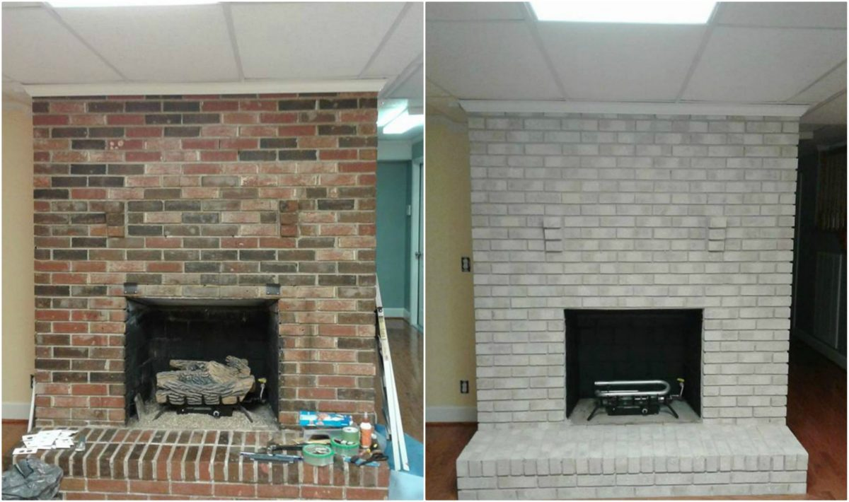 painting your brick fireplace brick anew
