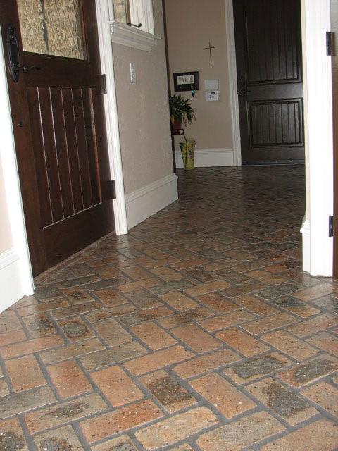 thin brick floors brick floor tile