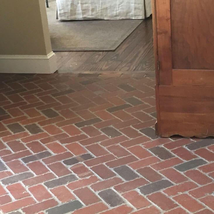 thin brick tile flooring brick paver