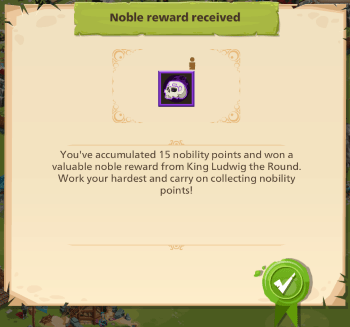 Empire: Four Kingdoms nobility quest reward