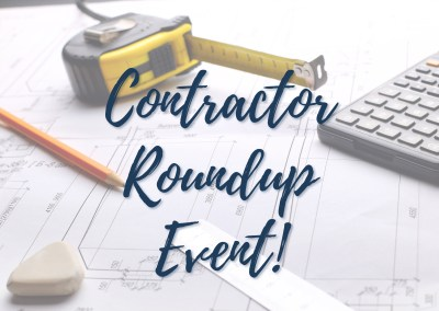 Contractor Roundup Event!
