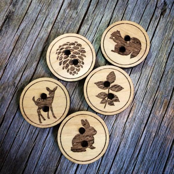 Woodland Button Set