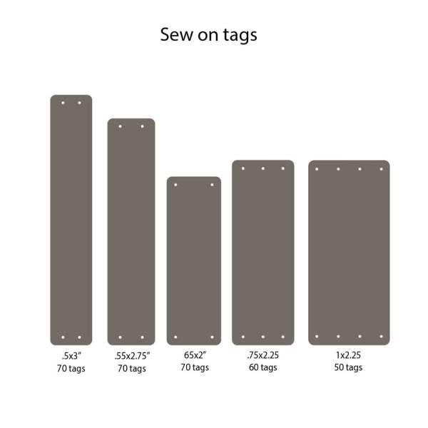 custom sew on tags in faux leather