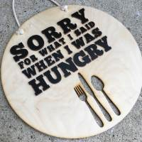 Hangry Plaque