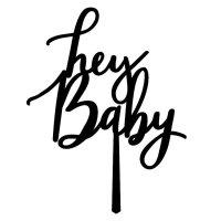 hey-baby-black acrylic