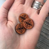 Brown Leather buttons