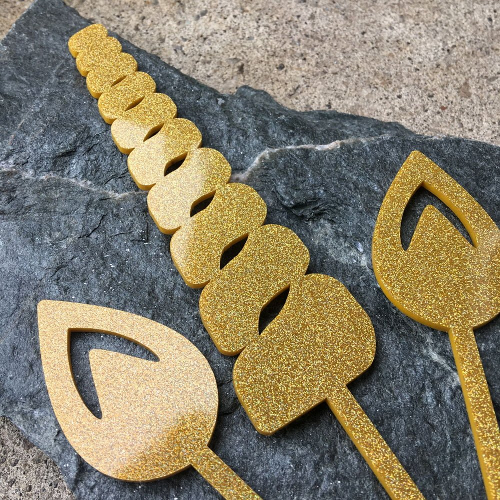 Unicorn Horn and Ears – cake topper - Brickbubble