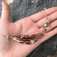 Forged Feather – necklace