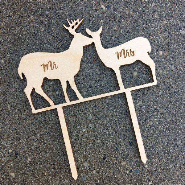 Silhouette Deer Topper
