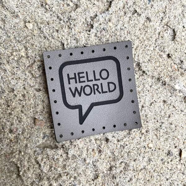 hello world speech bubble