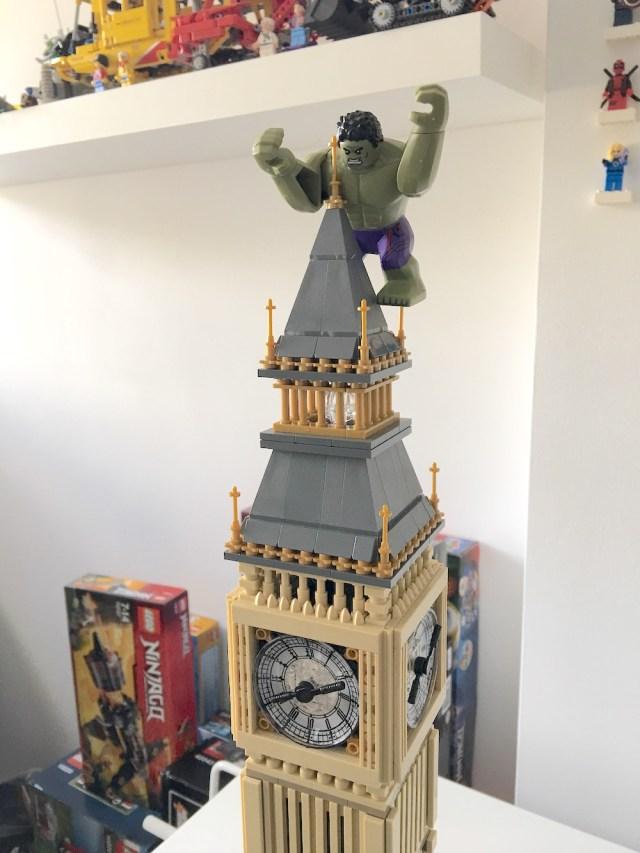 Lego Hulk on Big Ben