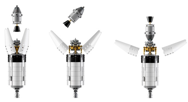 Lego Saturn V Open