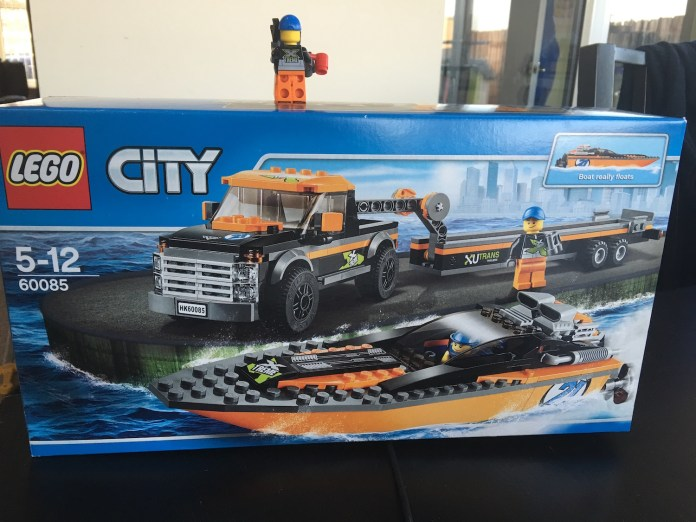Lego 60085 4x4 with Powerboat Review