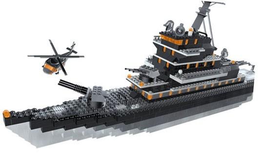Bricker Construction Toy By MEGABLOKS 3263 Battleship