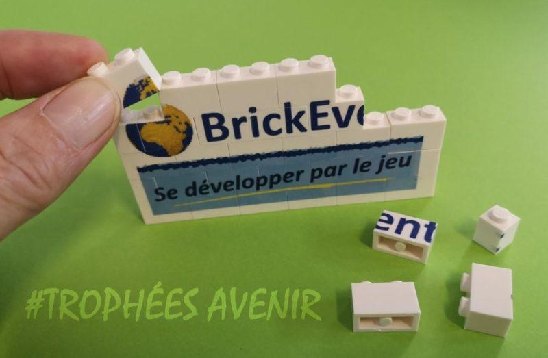logo de Brickevent en briques Lego