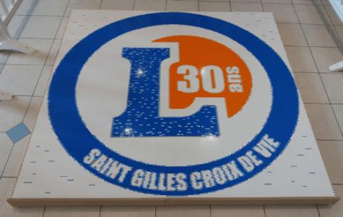 Logo 30ans  Leclerc en Lego