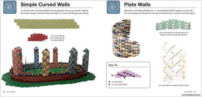 Curved walls.