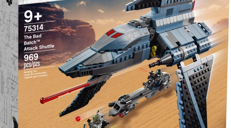 Relive Daring Missions with the NEW LEGO® STAR WARS™ The Bad Batch™ Attack Shuttle Construction Set