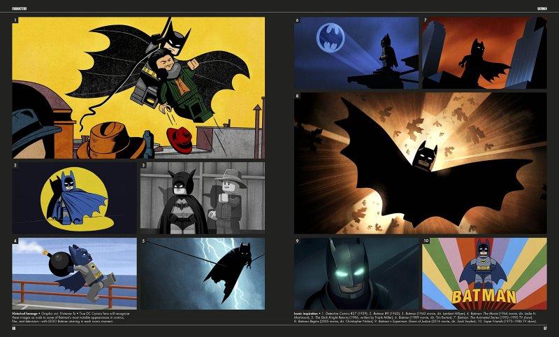 LEGO Batman, as seen through the many versins Batman has been seen in comics, TV and film.