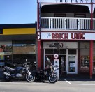 Motorcycles infront of Brick Lane