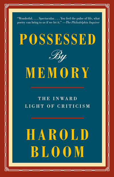 Possessed by Memory - Bloom (author) Harold