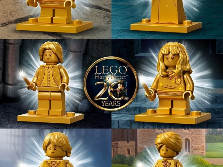 Se desvelan las Minifiguras doradas de HARRY POTTER