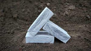 White Multi Simulated Handmade Stock Brick