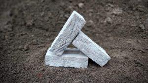 Light Grey Simulated Handmade Stock Brick