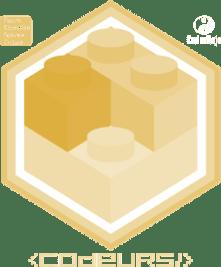 Badge Brickodeur niv Jaune