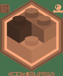 Badge Brickodeur niv Marron
