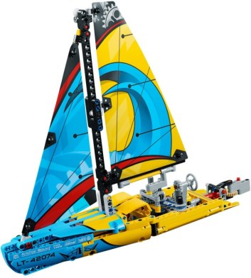 42074 lego technic racing yacht 1