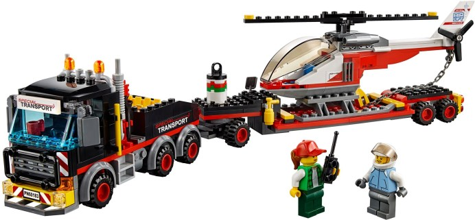 60183 lego city heavy cargo transport 1