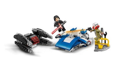 LEGO Star Wars A-Wing vs. TIE Silencer Microfighters (75196) 2