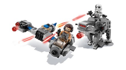 lego star wars 75195 Ski Speeder vs. First Order Walker Microfighters 2