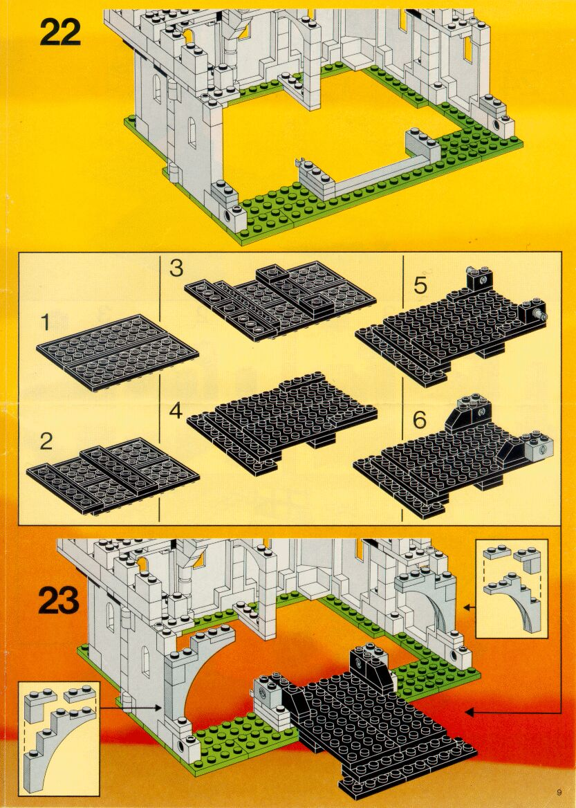 Instructions For 6074 1 Black Falcons Fortress Bricks
